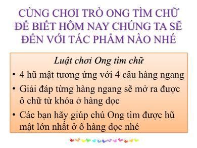 Bài giảng Ngữ văn lớp 10 - Tuần 14: Đọc văn: Nhàn (Nguyễn Bỉnh Khiêm) - Phan Ngọc Diễm