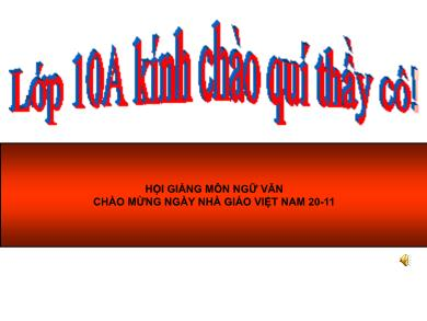 Bài giảng Ngữ văn lớp 10 - Tuần 14: Nhàn (Nguyễn Bỉnh Khiêm)