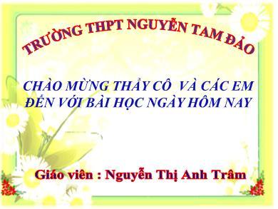 Bài giảng Ngữ văn lớp 11 - Tiết 96+97: Đọc văn: Một thời đại trong thi ca (Tríchthi nhân Việt Nam - Hoài Thanh) - Nguyễn Thị Anh Trâm