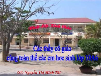 Bài giảng Đại số lớp 10 - Tiết 50: Cung và góc lượng giác (Tiết 2) - Nguyễn Thị Minh Thi