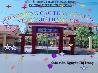 Bài giảng Đại số lớp 11 - Ôn tập chương 4 - Nguyễn Thị Trang