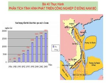 Bài giảng Địa lí lớp 12 - Bài 40: Thực hành: Phân tích tình hình phát triển công nghiệp ở Đông Nam Bộ