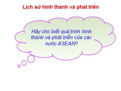Bài giảng Địa lý lớp 11 - Bài 11: Khu vực Đông Nam Á
