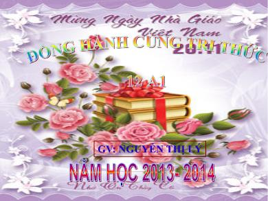 Bài giảng Giải tích lớp 12 - Tiết 38: Nguyên hàm (Tiết 1) - Năm học 2012-2014 - Nguyễn Thị Lý