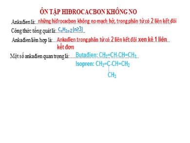 Bài giảng Hóa học lớp 11 - Chuyền đề: Luyện tập Ankadien