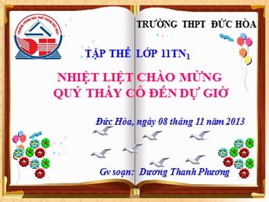 Bài giảng Hóa học lớp 11 - Tiết 31, Bài 20: Cacbon - Năm học 2012-2013 - Dương Thanh Phương