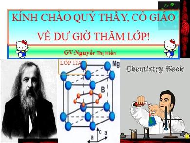 Bài giảng Hóa học lớp 12 - Bài 14: Vật liệu Polime - Nguyễn Thị Hiền