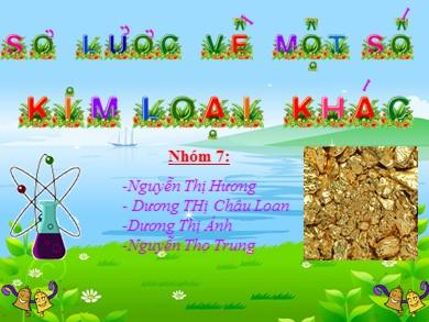 Bài giảng Hóa học lớp 12 - Bài 34: Crom và hợp chất của Crom - Nguyễn Thị Hương