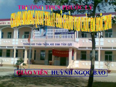 Bài giảng Lịch sử lớp 9 - Tiết 41, Bài 28: Xây dựng chủ nghĩa xã hội ở miền Bắc, đấu tranh chống đế quốc Mĩ và chính quyền Sài Gòn ở miền Nam (1954 - 1965) - Huỳnh Bảo Ngọc
