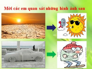 Bài giảng môn Địa lý lớp 10 - Bài 11: Khí quyển - Sự phân bố nhiệt độ không khí trên Trái Đất