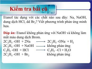 Bài giảng môn Hóa học lớp 11 - Bài 41: Phenol