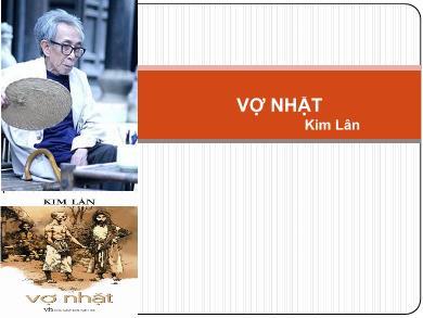 Bài giảng Ngữ văn lớp 12 - Phân tích tác phẩm: Vợ nhặt (Kim Lân)